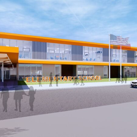 Front rendering of Norman School