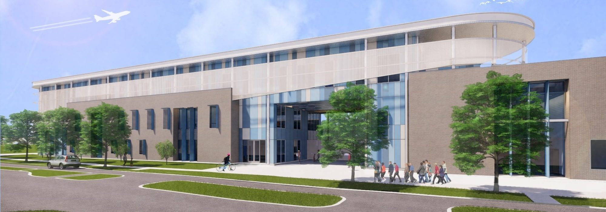 New Northeast Middle School Entrance Rendering