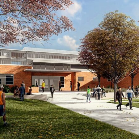 Eastside Memorial Early College High School pasarela renderizado